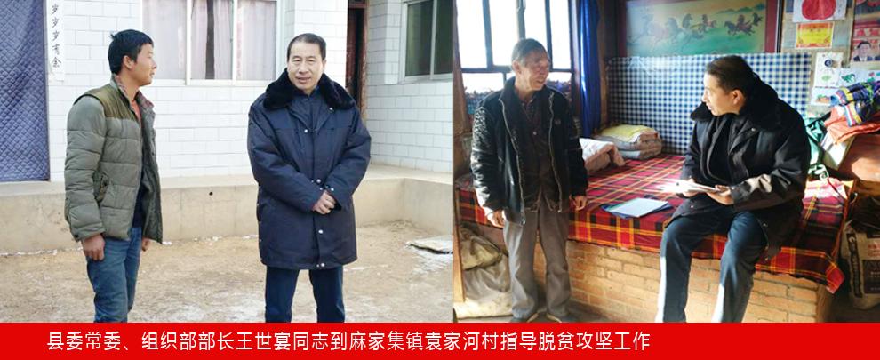 县委常委、组织部部长王世宴同志到麻家集镇袁家河村指导脱贫攻坚工作