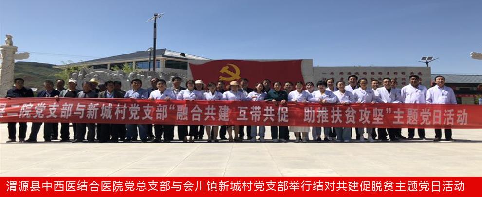 渭源县中西医结合医院党总支部与会川镇新城村党支部举行结对共建促脱贫主题党日活动
