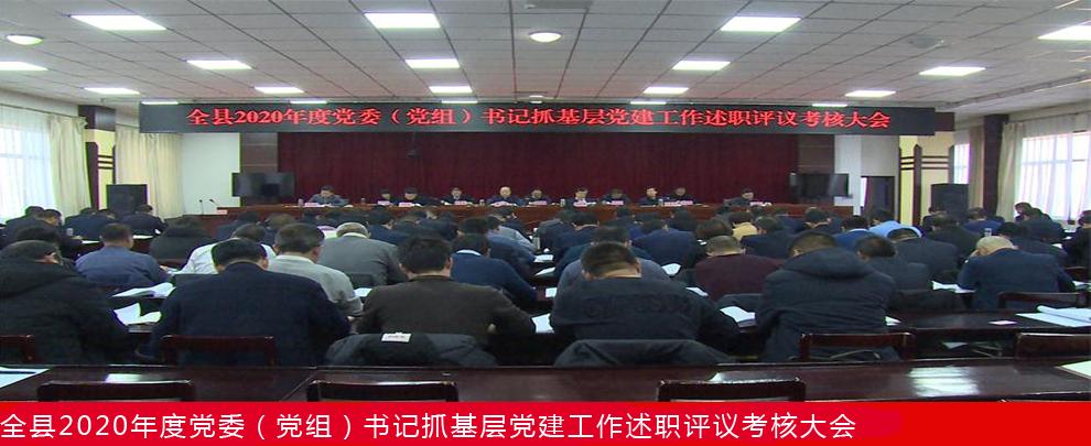 渭源县召开2020年度党委(党组)书记抓基层党建工作述职评议考核大会